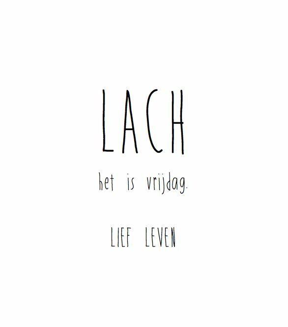 Lach bijna weekend