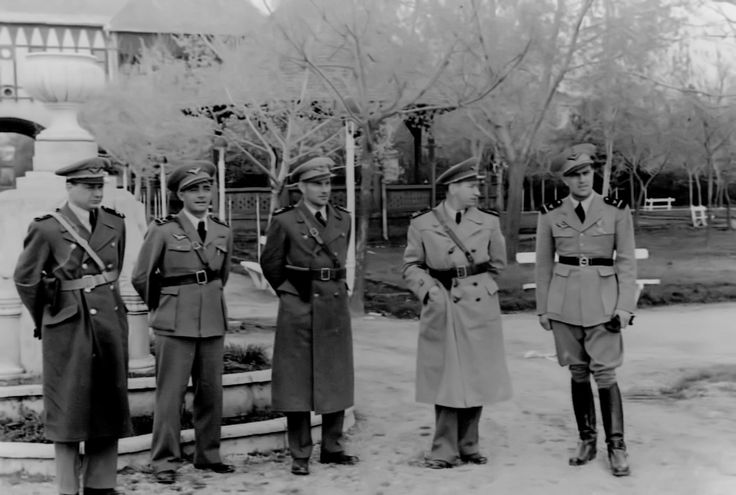 DELVIDEKI HADJARAT: Officers Left to Right: Toth; Kafka Lajos; Heppes Miklos; Czucz Janos; Liptak Gyorgy.