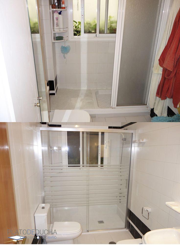 M s de 25 ideas incre bles sobre plato de ducha en for Reformar bano antiguo
