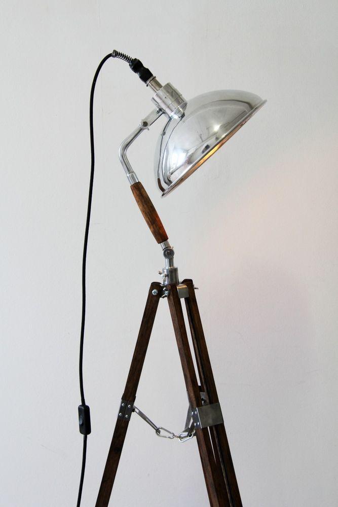 Inspirational Tripod Steh Foto Arzt Studio Lampe Holz Stativ Vintage Loft Bauhaus Retro Edison in M bel u
