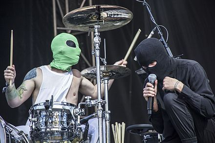 Twenty One Pilots (stylized as twenty one pilots, and sometimes as twenty øne piløts)[1] is an American musical duo originating from Columbus, Ohio. The band was formed in 2009 by lead vocalist Tyler Joseph along with former members Nick Thomas and Chris Salih, who left in 2011, and currently consists of Joseph and drummer Josh Dun. The duo rose to fame in the mid-2010s after several years of touring and independent releases