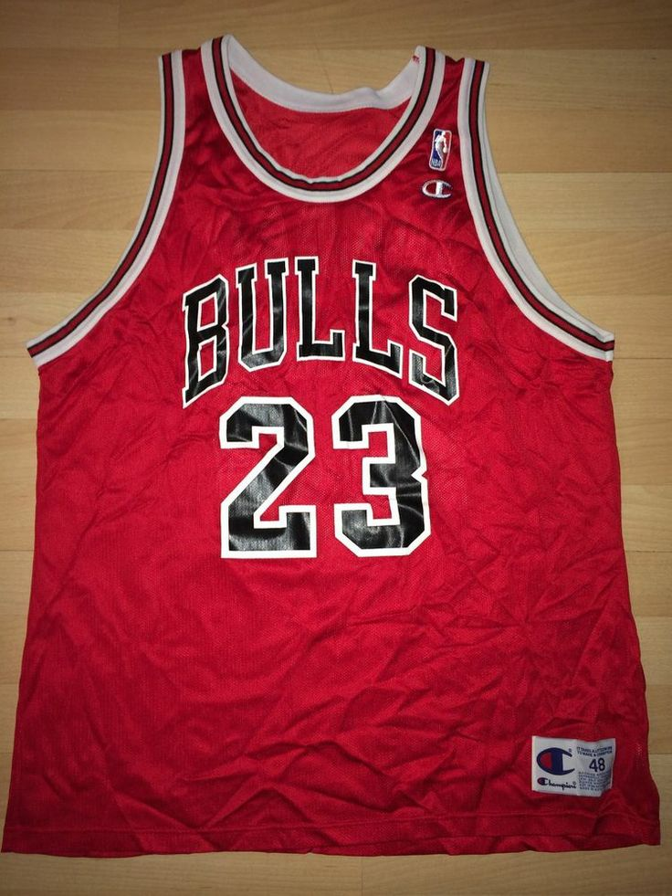 55850368d Chicago Bulls Jordan 23 Champion Jersey Michael jordan chicago bulls  vintage 23 champion jersey adult 48 - rare ...