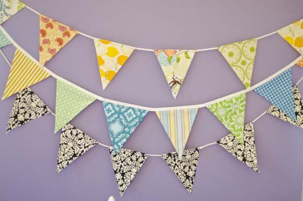 Simple way to make a pennant: Diy Fabrics Pennant Banners, Diy Crafts, Diy Pennant, Banners Crafts, Crafts Tutorials, Banners Tutorials, Easy Pennant, Easy Diy, Fabrics Banners Diy