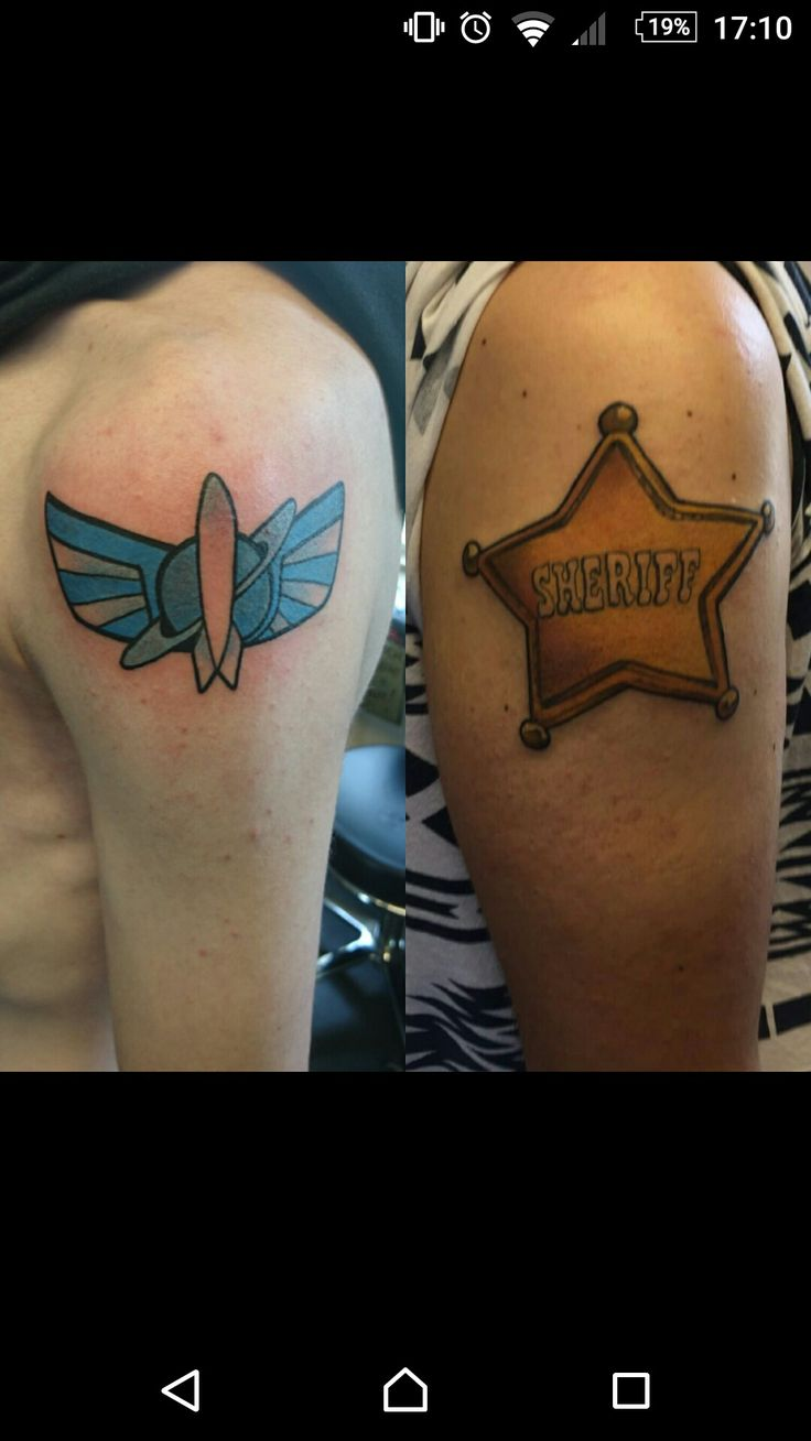 Matching Toy Story tattoos