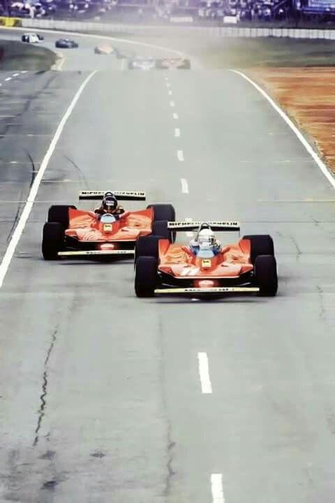 #11 Jody Scheckter...#12 Gilles Villeneuve...Scuderia Ferrari SpA SEFAC...Ferrari 312T4...Motor Ferrari 015 F12 3.0...GP Sudafrica 1979