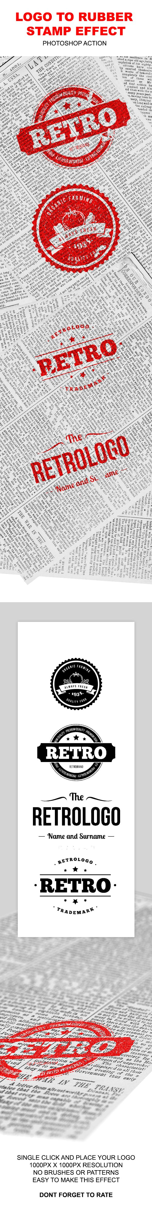 Logo to Rubber Stamp. Addons Actions. For
