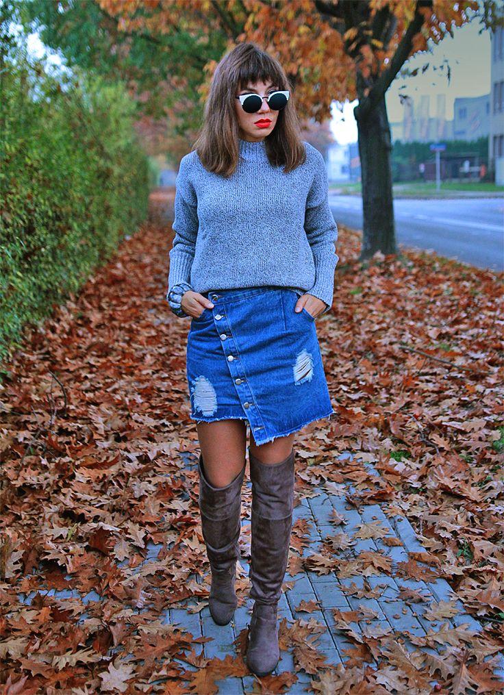 grey turtleneck and denim skirt: http://jointyicroissanty.blogspot.com/2017/10/perfect-grey-turtleneck.html