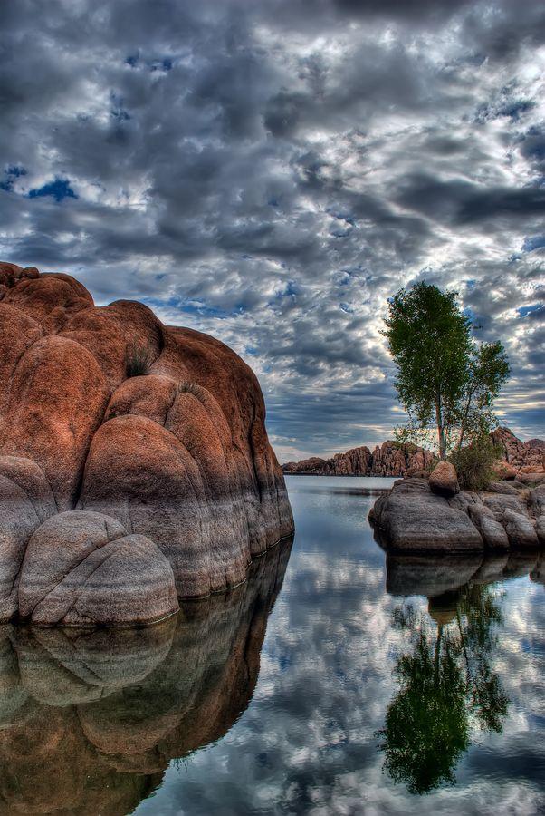 Granite and Tree Reflections by Michael Wilson, via 500px; Granite Dells, Watson Lake, Prescott, Arizona