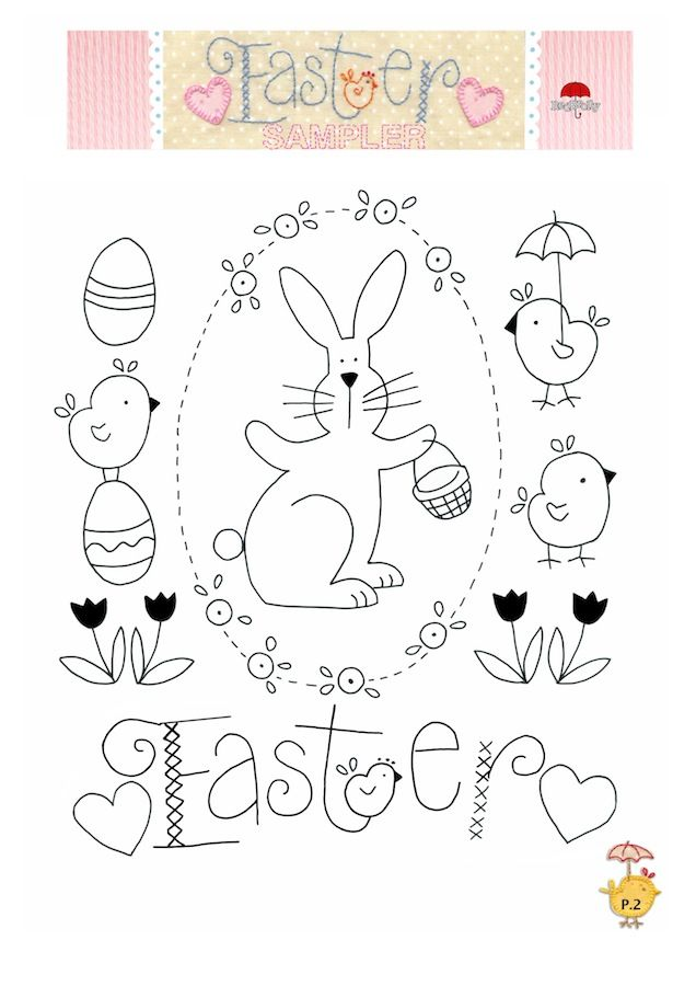 Girls Own Stitching Club :: A free Easter Sampler pattern