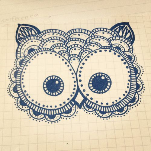 Owl drawing... this would be a cute tattoo!