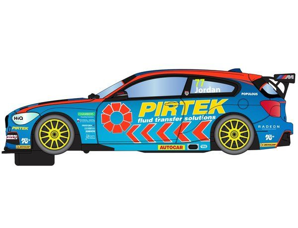 The Scalextric BTCC BMW 125 Series 1 Andrew Jordan is a slot car from the Scalextric Road and Rally car range.