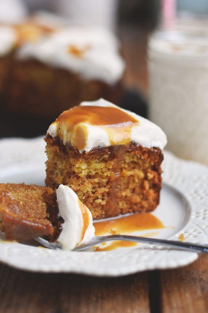 Karamell Joghurt Kuchen & Karamell Smoothie - Caramel Yogurt Cake & Caramel Smoothie   Das Knusperstübchen