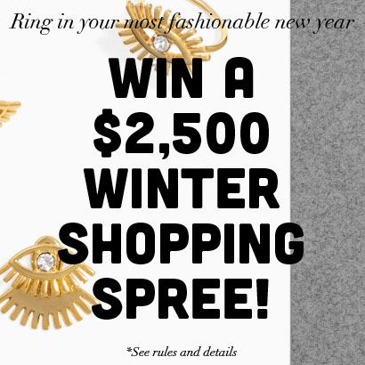 Ring in your most fashionable New Year! Win a $2,500 shopping spree to revamp your wardrobe in 2015. Prize includes: $1,000 to BaubleBar for the best new fashion jewelry, $1,000 to DailyLook to shop 2015's hottest trends and $500 to dine out. Enter now:tastingtable.com/newyear2015