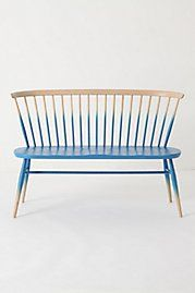 benchIdeas, Windsor, Anthropology, Painting Furniture, Chairs, Ombre Benches, Seats, Diy, Design