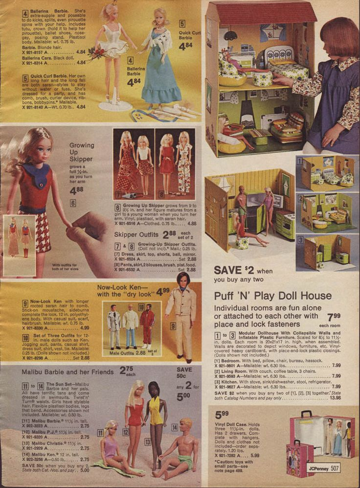 """Ken with the """"dry-look,"""" which seems to the marketing term for 'he comes with hair.'  And a stick-on moustache and sideburns, not to mention a nifty pant suit."""