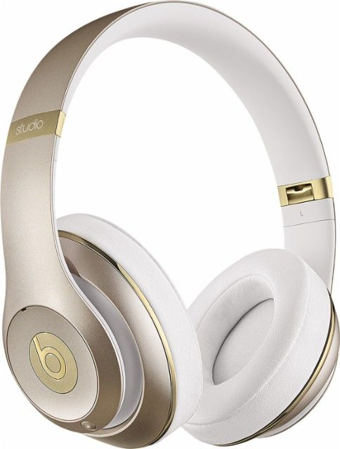 Beats by Dr. Dre - Beats Studio2 Wireless Over-the-Ear Headphones - Gold - Front_Zoom