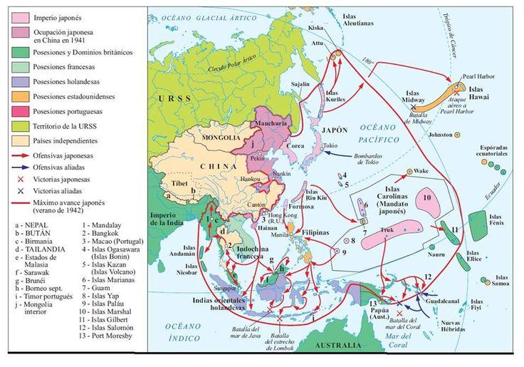 18. La Segunda Guerra Mundial. Las conquistas de Japón, 1939-1942
