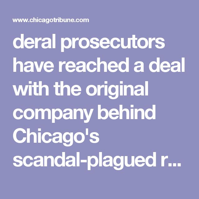 deral prosecutors have reached a deal with the original company behind Chicago's scandal-plagued red-light camera program two months after the firm's former chief executive officer was sentenced to prison time for her role in a kickback scheme.  Under the terms of the deal secured by the U.S. Justice Department and announced Tuesday, prosecutors in Chicago and Columbus, Ohio, will not prosecute Redflex Traffic Systems if the company continues to cooperate with the two federal probes.