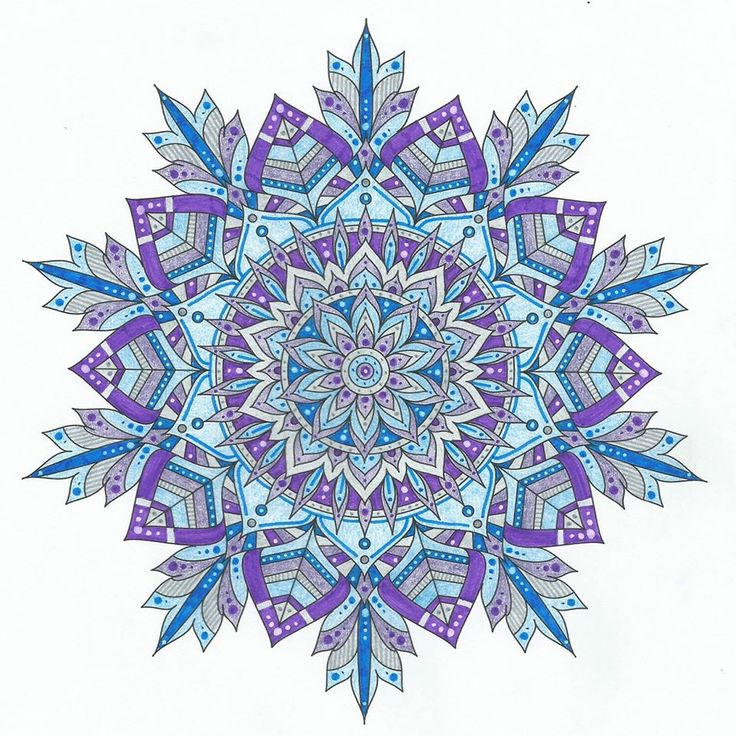 This is Winter Soul colored by Lois S. One of 100+ printable mandalas you can color too! https://mondaymandala.com/m/winter-soul?utm_campaign=sendible-pinterest&utm_medium=social&utm_source=pinterest&utm_content=winter-soul&utm_term=fancolor