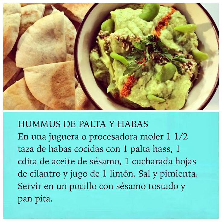Un delicioso Hummus de PALTA con Habas en #RutaOasis @OasisFMChile