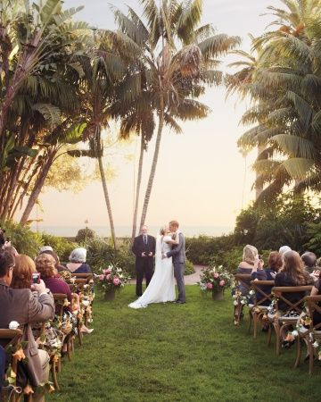 A stunning scene in Santa Barbara #marthastewartweddings