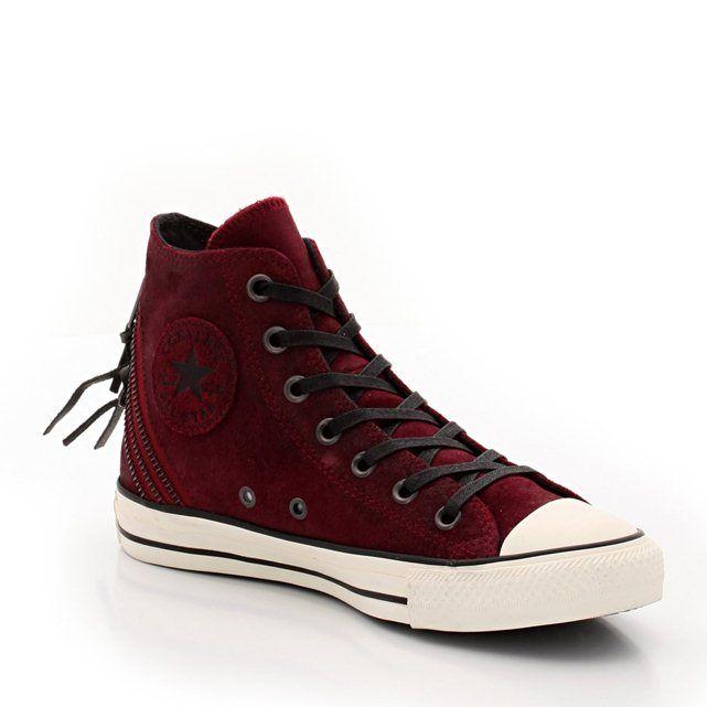 Zapatillas deportivas de caña alta de piel CTAS BURNISHED SUEDE TRI ZIP HI CONVERSE