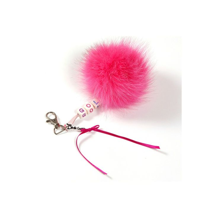 Rose FOX golf pom pom key ringBirdie country