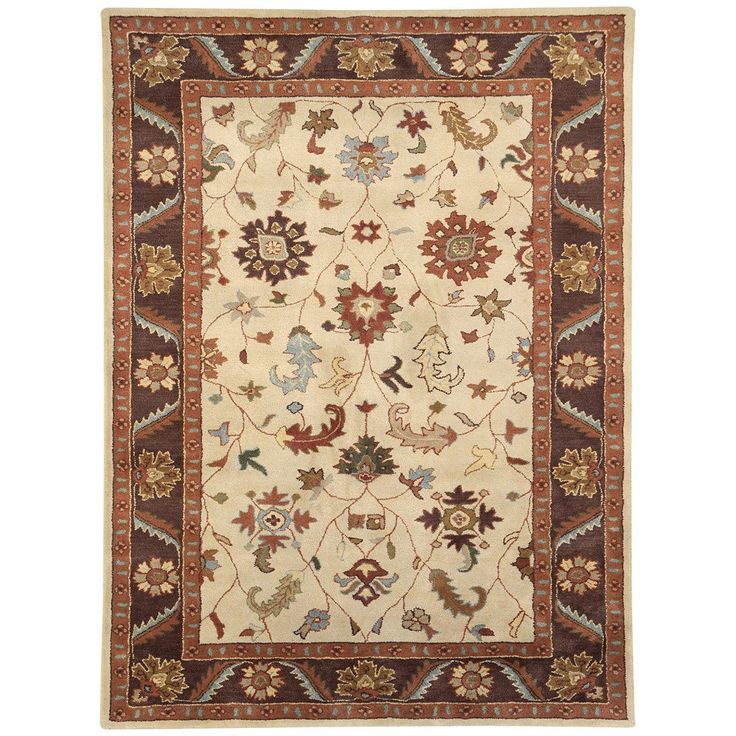 Dynamic Rugs Charisma 1411-100 Ivory-Brown Rug