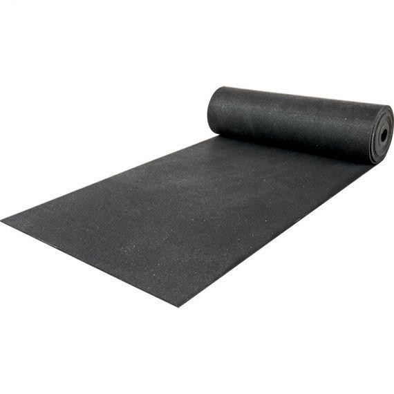 Hoch belastbarer elastischer Schutzbelag aus feinem Gummigranulat für Geräte- und Hantelbereiche. Format - Rollenware - schwarz, 10 mm Stärke zum punktuellen Schutz kleiner Flächen. Ebenso zur vollflächigen Verlegung auf großen Flächen bestens geeignet. #bodenbelag #schutzboden #sportboden #training #sport