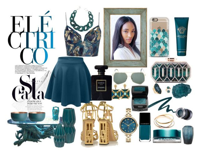 """Turquoise"" by cavffeine ❤ liked on Polyvore featuring Stila, Cartier, Illamasqua, John-Richard, Amara, Marc by Marc Jacobs, Valerie Nahmani Designs, H&M, Lancôme and Estée Lauder"