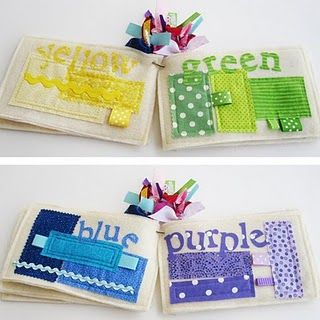 Color Book- great idea for a baby.