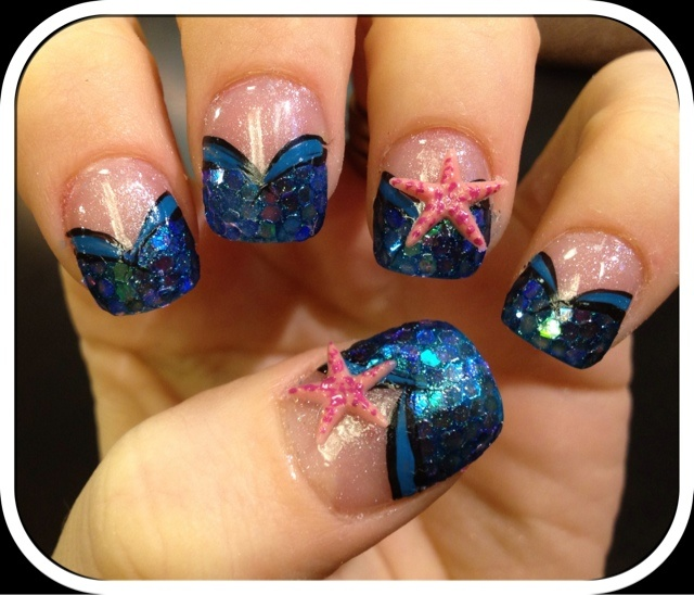 Prom Nail Ideas For Sea: 17 Best Images About Under The Sea Theme! :) On Pinterest