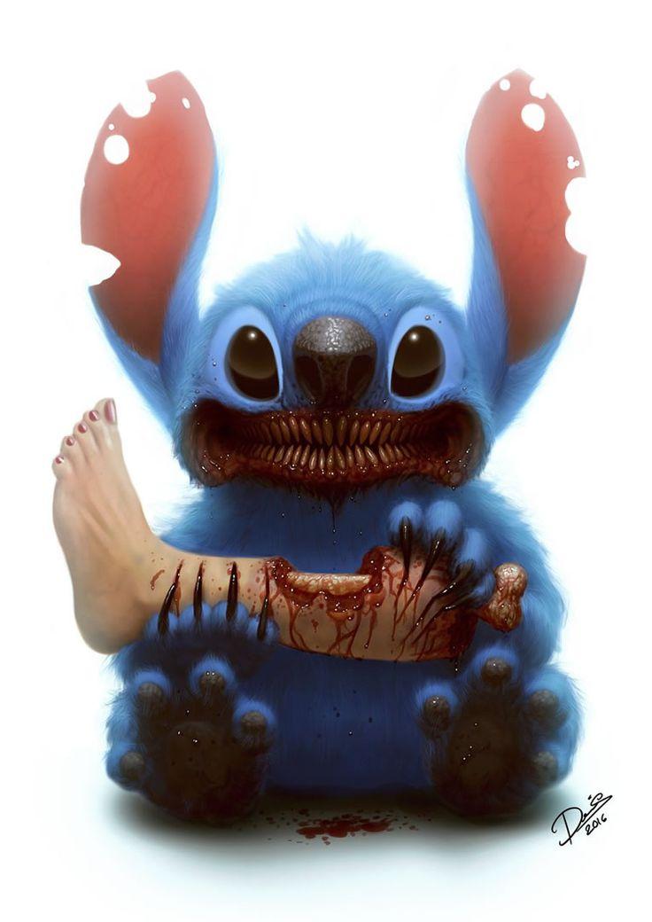 11 Sleep-Ruining Artist Corruptions Of Classic Childhood Disney Characters -  #art #creepy #disney #pixar