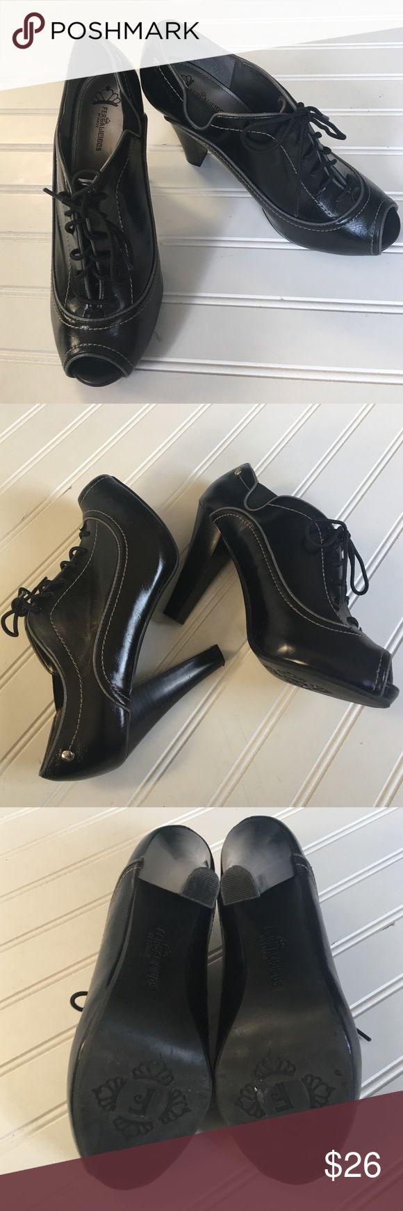 "❤SALE -NWOB Fergalicious Heels Sexy lace up peep toe shoes - 4"" heel Fergie Shoes Heels"