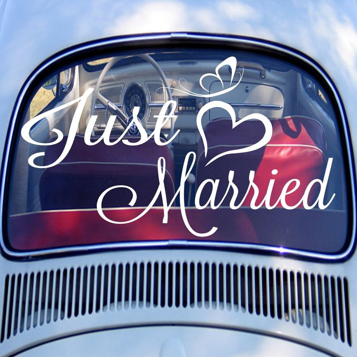 18 best wedding car decoration ideas images on pinterest wedding just married car decal wedding personalized names and dates monogrammed junglespirit Image collections