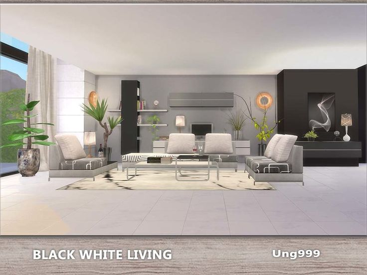 68 best sims 4 furniture images on pinterest sims the for Modern living room sims 4