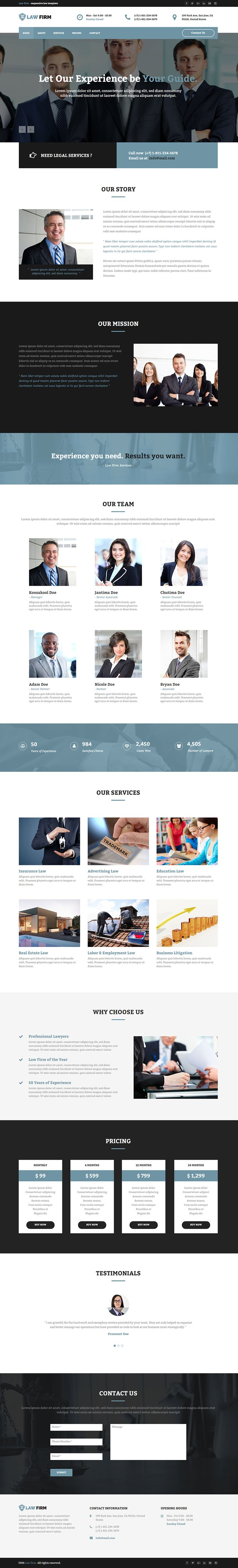 """Check out my @Behance project: """"Law Firm - Responsive Law Template""""…"""