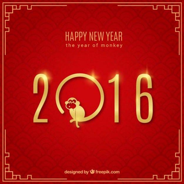 Feliz ano novo fundo vermelho Vetor Premium