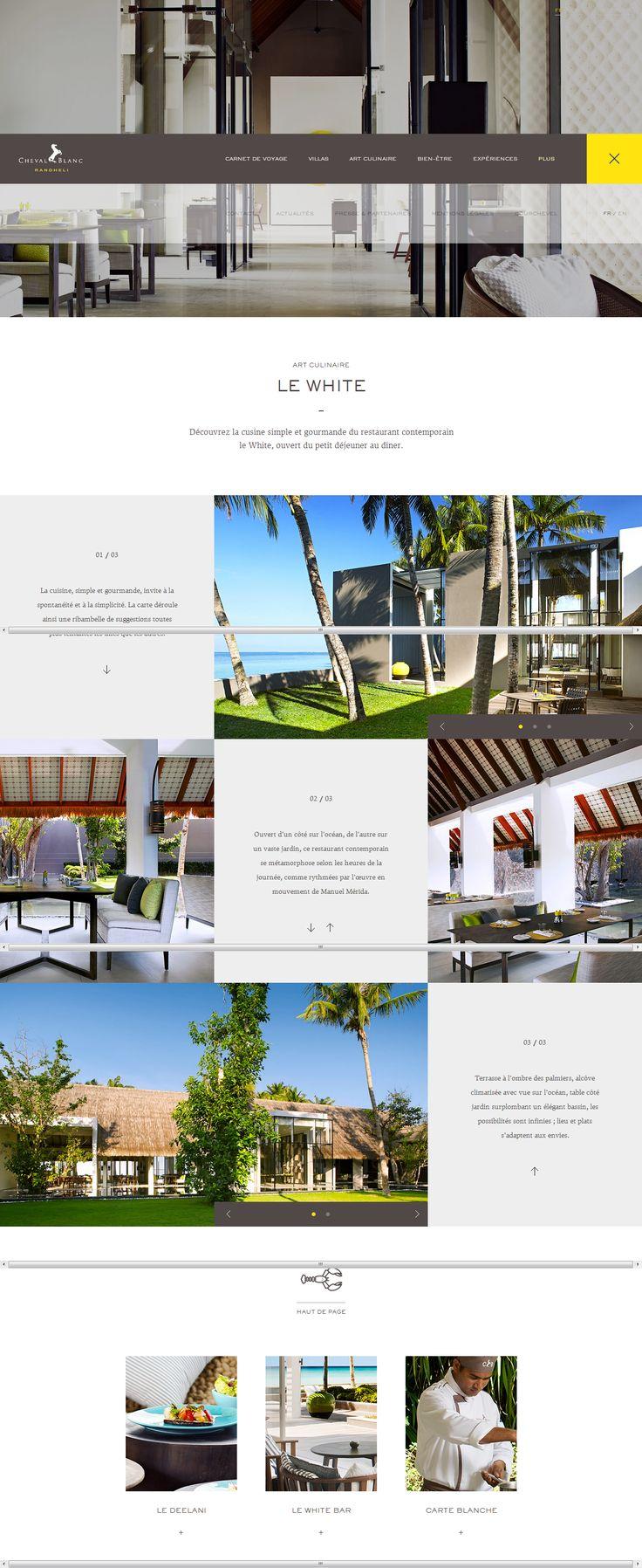 Le site des hôtels restaurants de luxe du groupe Cheval Blanc Randheli http://randheli.chevalblanc.com/