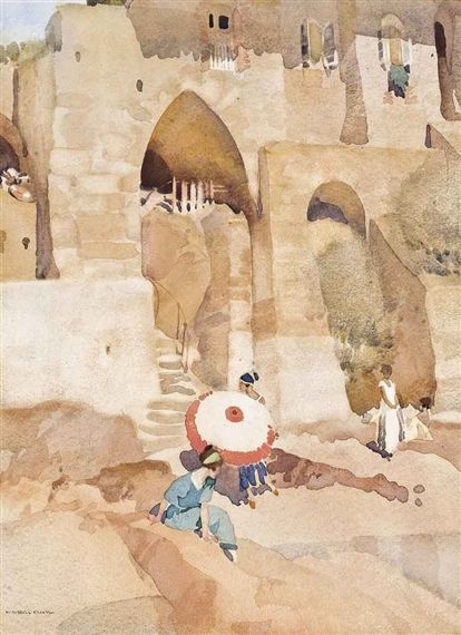William Russell Flint - The pink parasol