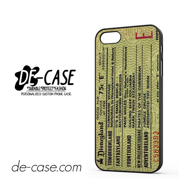 Original Disneyland Ticket DEAL-8310 Apple Phonecase Cover For Iphone SE Case