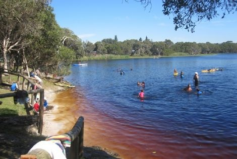 lake ainsworth, lennox head nsw - great place to take the kids as it is all natural tea tree.