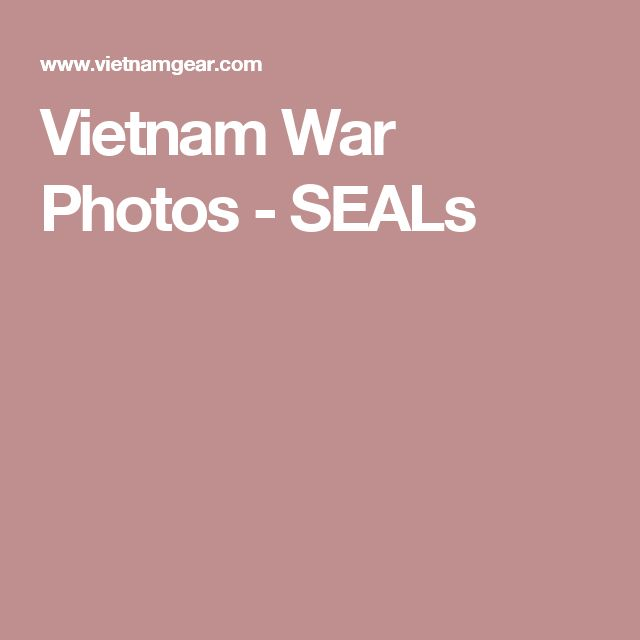 Vietnam War Photos - SEALs