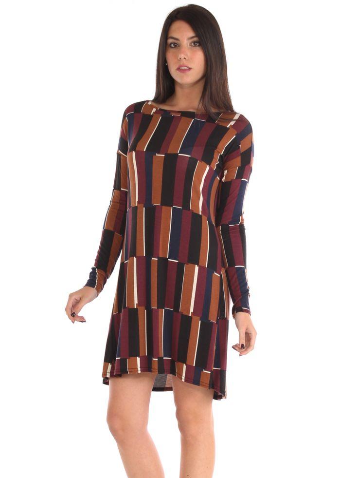 Geometric patterned stretch viscose jersey short dress #Geometric #patterned #stretch #viscose #jersey #shortdress #madeinitaly #fashion #style #freesketch
