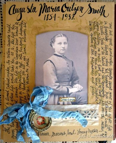 Beautifully done heritage scrapbook page