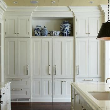 concealed fridges kitchen wright building company custom panel integrated