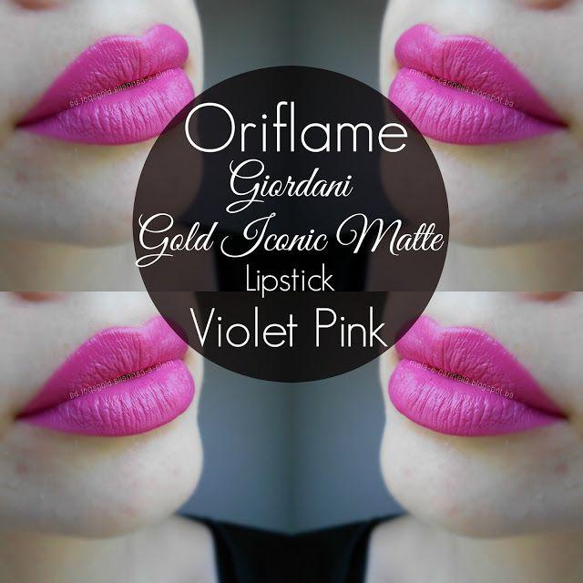 Oriflame - Giordani Gold Iconic Matte Lipstick - Violet Pink matte Oriflame ruž