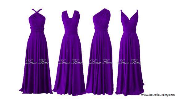 would be cute as a bridesmaids dress...... Purple Summer day dress Convertible Dress in Deep by DeuxFleur, $49.99