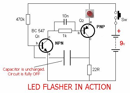 17 best images about electronics arduino circuit ledflashercircuit is an electrical circuit used to power a light emitting