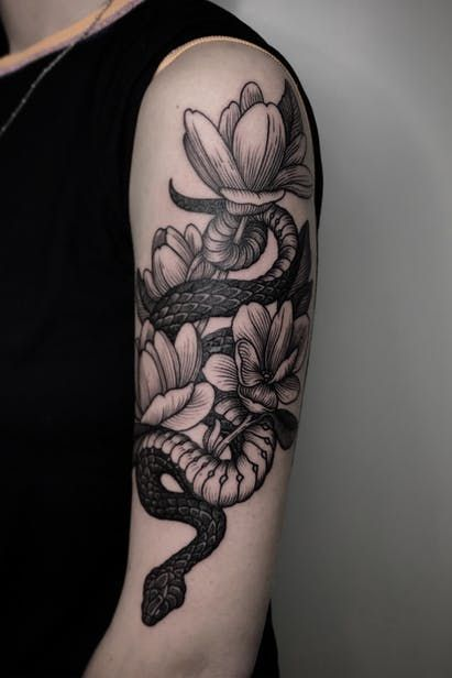 Top 100 Blackwork Tattoo Design On Arm